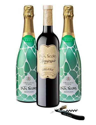 Pata Negra - Lote de 2 Botellas de Cava y 1 Botella...