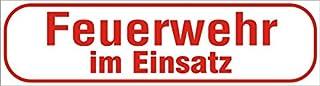 INDIGOS UG   Magnetschild Feuerwehr im Einsatz 45 x 12 cm reflektierend   Magnetfolie für Auto/LKW/Truck/Baustelle/Firma