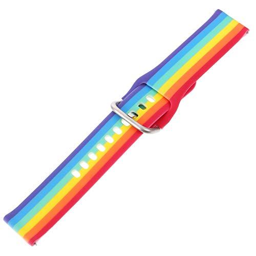 UKCOCO Correa de Reloj Compatible para Samsung Active 2- 40Mm 42Mm Correa de Repuesto de Silicona Deportiva para Mujer para Galaxy Watch Correa Deportiva de Engranaje de 42Mm ( 20Mm )