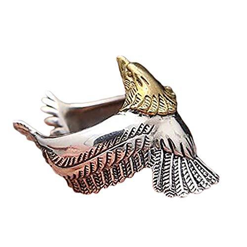 Monbedos Bague en forme d'aigle, ouverture réglable avec index de doigt, code 10 en diamant pour femme ou fille