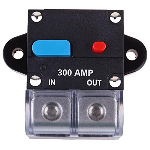VICASKY Interruptor de Circuito Amp 300A Interruptor de Circuito Rearmable para Coche Fusible de Recuperación Automática Botón de Reinicio Manual Interruptor de Circuito Fusible