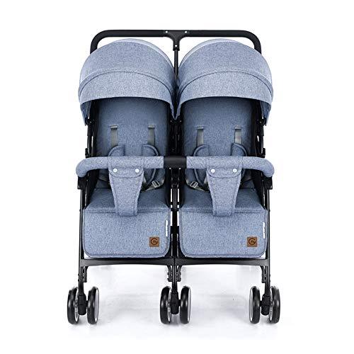 Doppelkinderwagen Leichte Kinder Kinderwagens SüßEste Design City Street Twins Kinderwagen 6985,Blue