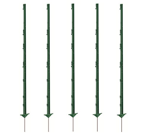 Growi Weidezaunpfahl Kunststoff 156 cm grün 20 Stück