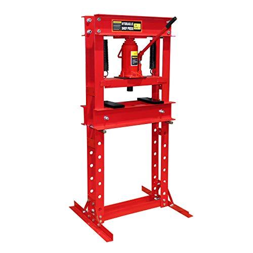 WilTec Presse hydraulique Presse d'Atelier Presse à Cadre 30t Pression de pressage Plier Deformer
