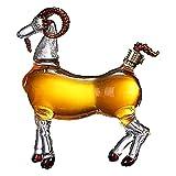 ZRXRY Decantador de Whisky Decantador con Forma de Oveja, Botella de Whisky, Botella de Vidrio de Cabra Oveja Animal Botella de Vidrio de Vidrio de borosilicato soplado a Mano Botella Transparente