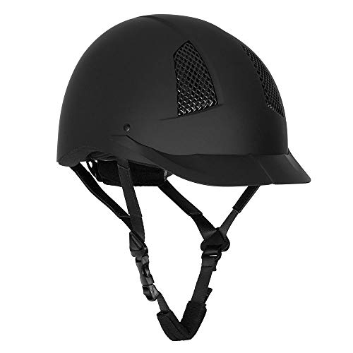 TuffRider Starter Horse Riding Safety Helmet | Schooling Protective Head Gear for Equestrian Riders - SEI Certified, Tough and Durable - Black - Large