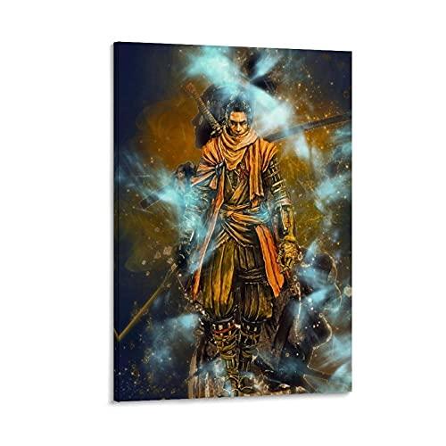 MNUW Samurai Warriors - Póster de lienzo para pared (20 x 30 cm)