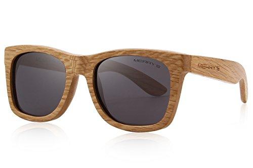 MERRY'S Mens Polarized Wooden Sunglasses for Men Women vintage Eyewear...