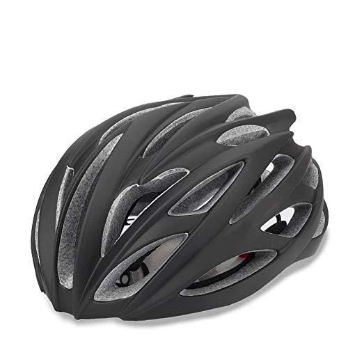 No-branded Motorrad-Zubehör Straßen-Gebirgsfahrradhelm Helm integriert mit Keel Erwachsene Reithelm Männer und Frauen LKYHYQ (Color : Schwarz)
