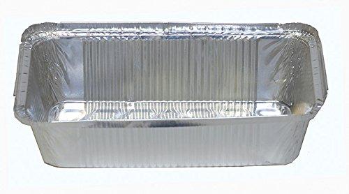 100 Aluschalen mit Deckel • R14L • eckig • 940ml • Alu-Schale • ungeteilt • Alu-Menüschale • Lunchbox • Asietten • Alubehälter • Aluminiumschalen • Tropfschale • Lasagneform • Auflaufform