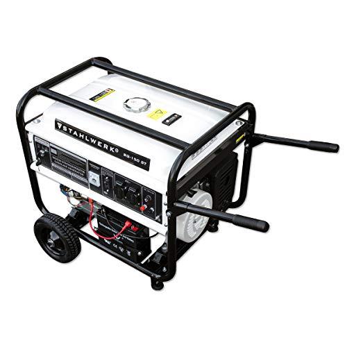 STAHLWERK Stromgenerator SG-150 ST, 15 PS Benzingenerator Stromerzeuger Notstrom Aggregat, zuverlässig und leistungsstark, verbrauchseffizient und wartungsarm