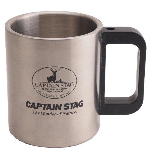 キャプテンスタッグ バーベキュー BBQ用 コップ マグカップ フリーダムダブルステン 300mlM-7328