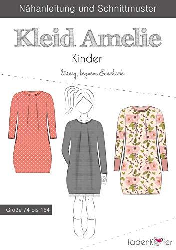 Schnittmuster Fadenkäfer Kleid Amelie Kinder Gr. 74-164 Papierschnittmuster