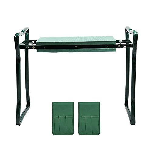 ValueHall Garden Kneeler e Sedile Portatile 60 × 27 × 49cm Heavy Duty Giardino Inginocchiatoio...