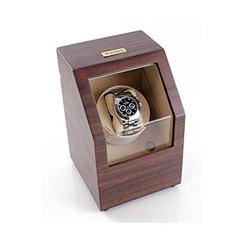 Heiden Battery Powered Single Watch Winder in Walnut