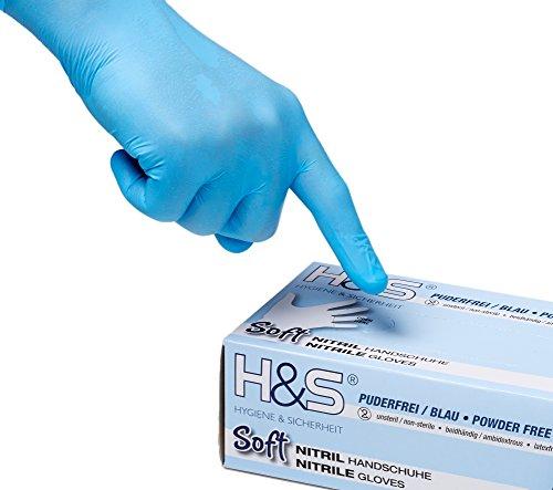 ISC Hygiene & Safety 100 Nitrilhandschuhe Gr. S/7, blau, Einweghandschuhe, Einmalhandschuhe