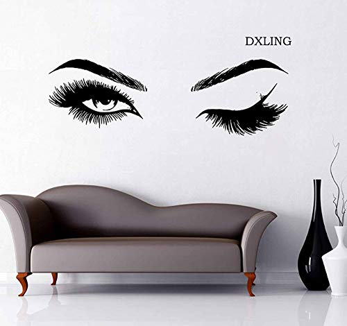 DXLING Beauty Salon Quote Wall Decal Stickers Make Up Store Home Decoration Murals (LC560 Black)