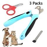 JTENG Krallenschere für Hunde und Katzen,Hunde Nagelknipser, Scharf Edelstahl Hund Nagelknipser mit Sicherheitsschutz