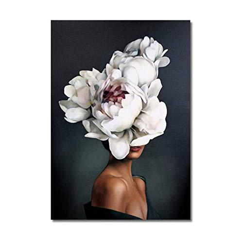XingChen Stile Nordico 70x90 cm Senza Cornice Poster Moderno Astratti Fiori Donna Arte Pittura Piuma Poster Stampe Immagini per Soggiorno Decor