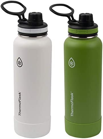 Thermoflask Double Wall Vacuum Insulated Stainless Steel Water Bottle 2 Pack Arctic Grasshopper product image