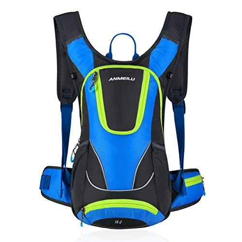 Bike Backpack Waterproof Breathable Cycling Bicycle Rucksack 12L lightweight waterproof wear-resistant night reflection can be equipped with helmet hiking hiking camping skiing night running-Royalblue