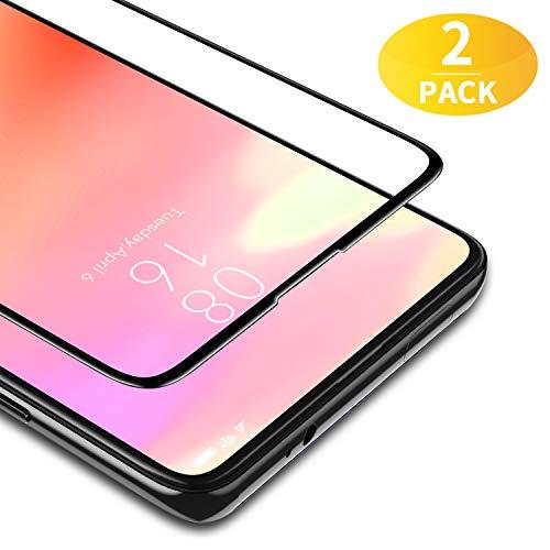 BANNIO für Panzerglas für Xiaomi Mi 9T/Mi 9T Pro/Xiaomi Redmi K2 /K20 Pro,2 Stück Full Screen Panzerglasfolie Schutzfolie für Xiaomi Mi 9T/9T Pro,9H Festigkeit Bildschirmschutzfolie,Blasenfrei,Schwarz