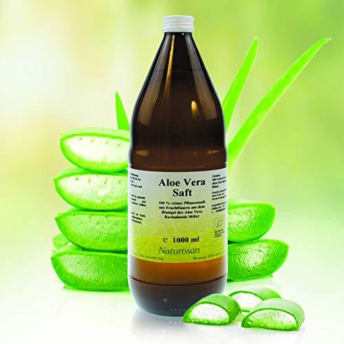 Alpvital Naturosan Aloe Vera Saft 100% 1000ml reiner Pflanzensaft mit Fruchtfasern