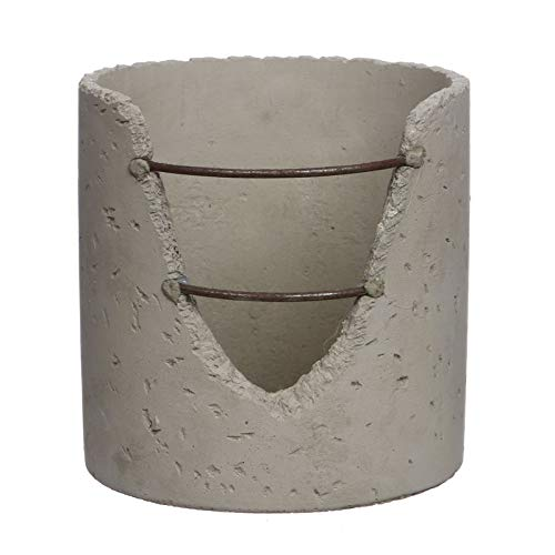NaDeco Zementtopf Industrie Style in 5 Größen Wählbar Übertopf aus Zement Betontopf Pflanzentopf aus Beton Pflanzkübel Beton Beton Blumentopf Übertopf aus Beton, Größe:Ø15.6 h.16 cm
