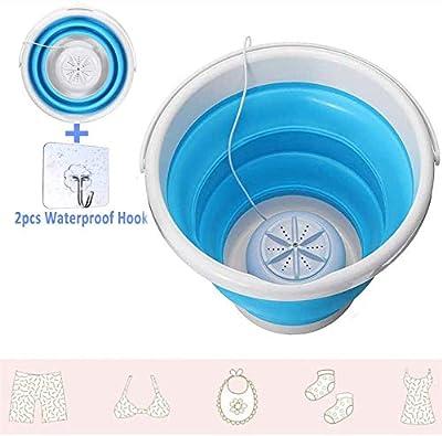 99native Foldable Turbine Washer, Portable Mini Turbo Washing Machine with Foldable Tub Ultrasonic Turbine Washe, USB Electric Small Turbo Washing Machine, Mini Turbo Washer Suit for Camping(Blue)
