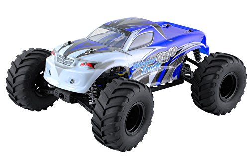 XciteRC 30309000 - Ferngesteuertes RC Auto - Monster Truck one 10 4WD RTR Modellauto M1:10, blau