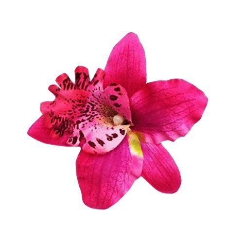 Diawell Orchidee Haarblume Haarclip Haarspange Blume Blüte Ansteckblume Haarschmuck