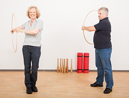 Mind & Move Gymnastikreifen aus Holz (Ø 80 cm)