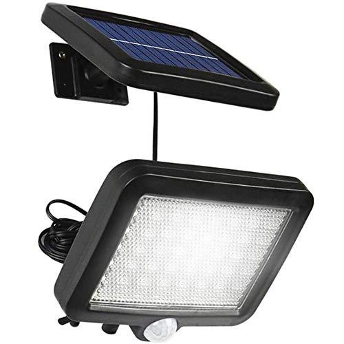 Solares Sicherheitslicht, 56 Led-bewegungssensor, Wasserdichte Solarwandleuchte, Verwendet Für Garten-, Zaun-, Garagen-, Terrassenbeleuchtung [energie A +]