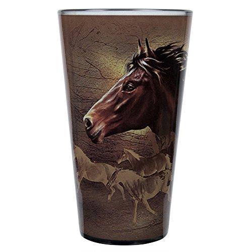 Horse Pint Glass   Wild Horses