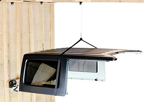 Lange Originals   Hoist-A-Top Simple JL   Lift and Store Your Hardtop   Compatible with Jeep Wrangler JL, 2 and 4 Door   Single Person Operation