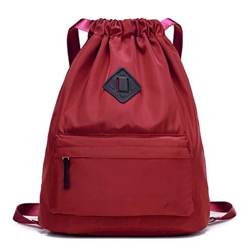 WUHUAROU Bolsa de deporte impermeable bolsa de gimnasio Softback Mochilas deportivas mujeres hombres bolsas de deporte bolsa de accesorios para gimnasio fitness correr (color: rojo)