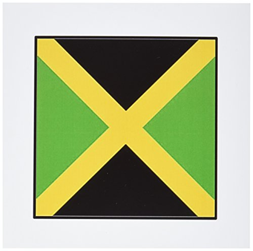 3dRose Photo Of Jamaica Flag Button - Greeting Cards, 6 x 6 inches, set of 12 (gc_80983_2)