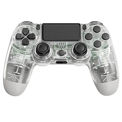 JORREP Controller per PS4, Wireless Controller per Playstation 4/Pro/3/Slim/ PC, Wireless Gamepad Joystick con Shock a Doppia Vibrazione a Sei Sssi e Jack Audio Mini LED-Crystal