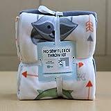 Animal Buddies Anti-Pill No-Sew Throw Fleece Fabric Kit (50x60)