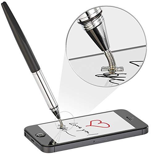 Callstel Smartphone Stift: Präzisions Tablet-Zeichen- & Eingabestift mit Positionierungskreuz (Stift zum Tippen auf Smartphone)