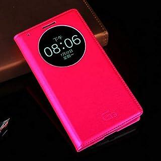 جرابات فليب - جراب جلدي فاخر لهواتف G3 Optimus D855 D850 D 855 D855 D856 LGG3 G 3 D857 D859 F400 F400k Auto Sleep (Rose re...