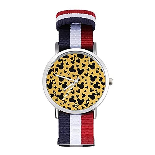 Mickey Mouse Minnie reloj de ocio para adultos, moderno, hermoso y personalizado aleación Shell Casual Sports reloj de pulsera para hombres y mujeres