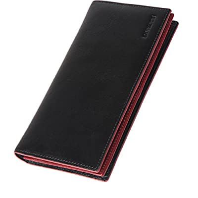 Banuce Real Leather Bifold Long Wallet for Men Clutch Purse Large Capacity Card Holder Case