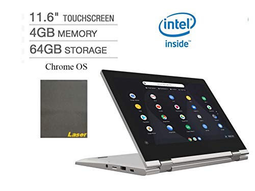 """2020 Newest Lenovo Chromebook 2-in-1 11.6"""" Touch-Screen Laptop Computer Business Student Online Class/Remote Work, Intel Celeron N4000, 4GB RAM, 64GB eMMC,WiFi, Bluetooth,Chrome OS + Laser Mouse Pad"""