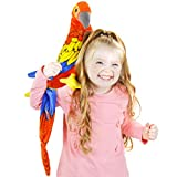 VIAHART Miguelita The Macaw | 14 Inch (Tail Measurement Not Included!) Large Parrot Stuffed Animal Plush Bird | by Tiger Tale Toys