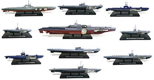 - Lote de 10 submarinos Militares 1/350 Segunda Guerra Mundial Alemania +...