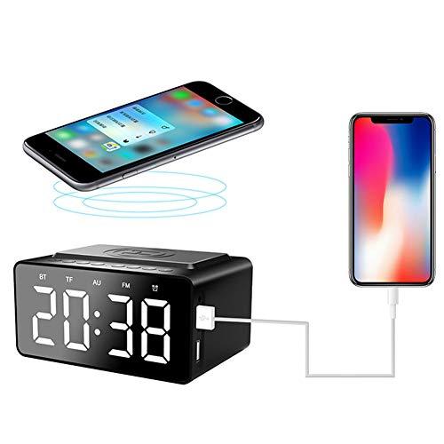 Myfei Bluetooth luidspreker, draadloos, Bluetooth 5.0 tijd, display luidspreker, twee subwoofer-luidsprekers voor het draadloos opladen van de telefoon