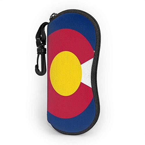 Sonnenbrille Brillenetui Colorado Tasche Kratzfest staubsichere Brillenbox mit Gürtelclip für Schlüssel, Bleistifte, Karten