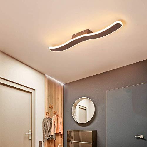 Lámpara LED Luz de Techo Brillo Ajustable y Color de luz Tira de luz Ondulada Luz de Techo Regulable Lámpara de Techo para Dormitorio Sala de Estar Habitación de Hotel, luz cálida,