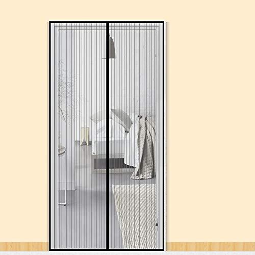 Zalava Fliegengitter Tür Fliegengitter Balkontür insektenschutz tür für Tür Balkontür Wohnzimmer Terrassentür 100x210 cm/110x220 cm /120x240cm/160x230cm, Klebmontage ohne Bohren (110x220 cm, Schwarz)